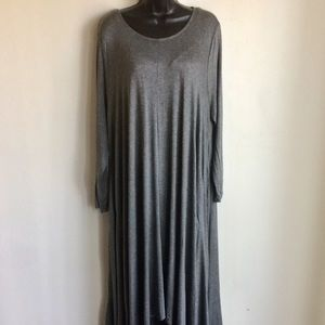 Grey Hi Low Maxi Long Sleeve Dress Size XXL NWTS